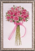 Design Works Crafts Rose Bouquet counted cross stitch picture kit