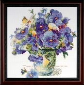 Design Works Crafts Pansy Floral counted cross stitch picture kit
