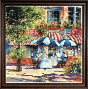 Design Works Crafts Cafe in the Sun counted cross stitch kit