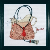 Design Works Crafts Leopard Purse counted cross stitch kit