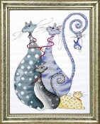 Design Works Crafts Cat Pack counted cross stitch kit