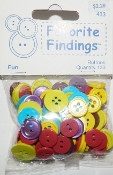 Favorite Findings Fun - Flat Back Sewing Buttons