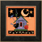 Mill Hill Haunted Crow Halloween counted cross stitch kit