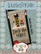 Lizzie Kate Jingles flip-it Deck the Halls Christmas counted cross stitch pattern