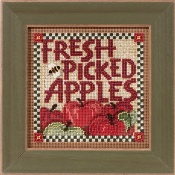 Mill Hill Autumn Series Picked Apples beaded counted cross stitch kit