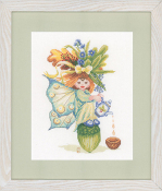 Lanarte Maria Van Scharrenburg Cross Stitch kit Acorn Girl