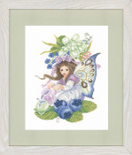 Lanarte Maria Van Scharrenburg counted cross stitch kit, Blueberry Girl
