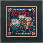 Mill Hill Winter Series, Who Trio - Christmas counted cross stitch kit - Owls