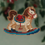 Mill Hill Winter Holiday Rocking Horse MH18-3304 Christmas Ornament counted cross stitch kit with treasure - An adorable Rocking Horse to stitch