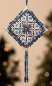 Mill Hill Tiny Treasured Diamond Beaded counted cross stitch kit with treasures, Royal Capri