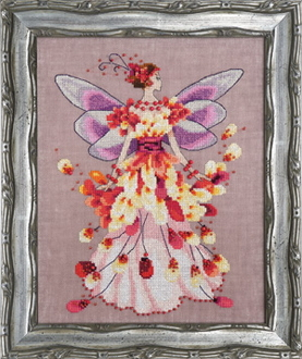 Mirabilia Designs Faerie Spring Fling NC201 design by Nora Corbett counted cross stitch pattern