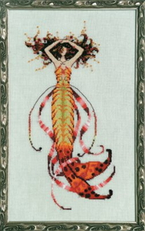 Mirabilia Designs Sirens Song Mermaid NC189 design by Nora Corbett counted cross stitch pattern