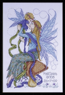 Design Works Crafts Faerie Mother beaded counted cross stitch kit, birth announcement