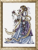 Design Works Crafts Rose Lady beaded counted cross stitch picture kit