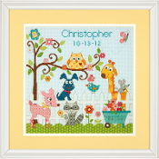 Dimensions Happi Backyard Bird Record counted cross stitch kit