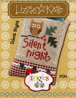 Lizzie Kate Jingles Flip-It Silent Night F134 Christmas counted cross stitch pattern with embellishment