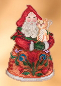Jim Shore by Mill Hill - Purrfect Christmas Santa JS20-3101 Christmas Ornament beaded counted cross stitch kit