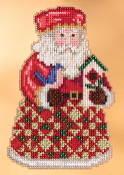 Jim Shore by Mill Hill - Cozy Christmas Santa JS20-3104 Christmas Ornament beaded counted cross stitch kit