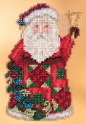 Jim Shore by Mill Hill - Glad Tidings Santa JS20-3103 Christmas Ornament beaded counted cross stitch kit