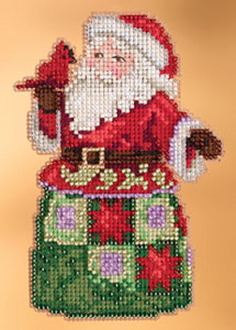 Jim Shore by Mill Hill - Festival Friends Santa JS20-3106 Christmas Ornament beaded counted cross stitch kit