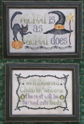 Wicked Stitches Waxing Moon Designs counted cross stitch patterns, Halloween