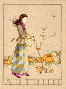 Mirabilia Designs Autumn in My Garden beaded counted cross stitch pattern