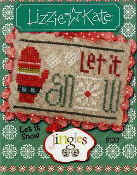 Lizzie Kate Jingles Flip-It Let It Snow F137 Christmas counted cross stitch pattern with embellishment