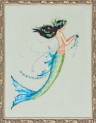 Mirabilia Designs Mermaid Azure NC190 design by Nora Corbett counted cross stitch pattern