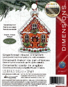 Dimensions Christmas Counted cross stitch kit - Gingerbread House Ornament, Susan Winget
