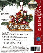 Dimensions Christmas Counted cross stitch kit - Sleigh Ornament, Susan Winget