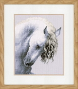 Lanarte Animals Collection, Impetuous Roan - Horse counted cross stitch picture kit