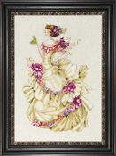 Mirabilia Designs Ella, The Frog Princess MD-129 beaded counted cross stitch pattern chart