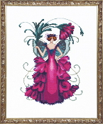 Mirabilia Designs Zinnia NC196 design by Nora Corbett counted cross stitch pattern