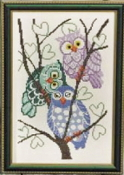 Permin Three Owls counted cross stitch picture kit