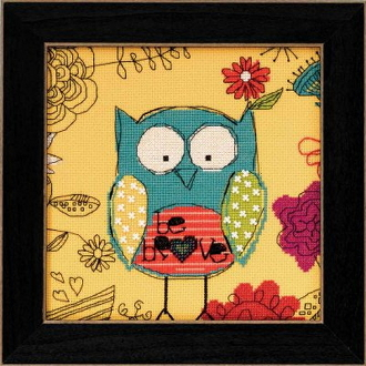 Mill Hill Amylee Weeks beaded counted cross stitch kit - Be Brave Owl