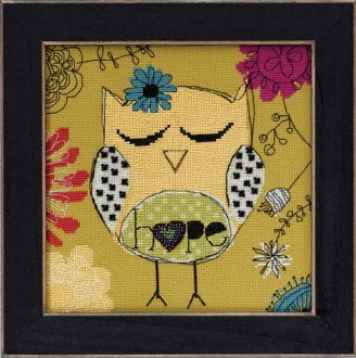 Mill Hill Amylee Weeks beaded counted cross stitch kit - Hope Owl