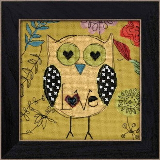 Mill Hill Amylee Weeks beaded counted cross stitch kit - Love Owl