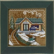Mill Hill Winter Series Christmas Village - Train Depot beaded counted cross stitch kit