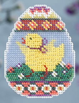 Mill Hill Spring Collection - Chick Egg - beaded counted cross stitch ornament kit