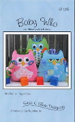 Susie C Shore Designs Baby Who Owl Pillow, Toy with pockets sewing pattern