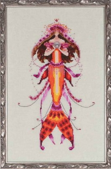 Mirabilia Designs Ophelias Pearl NC191 design by Nora Corbett counted cross stitch pattern