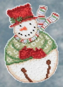 Mill Hill Snowbells - Jangle Snowman Debbie Mumm Christmas Ornament beaded counted cross stitch kit