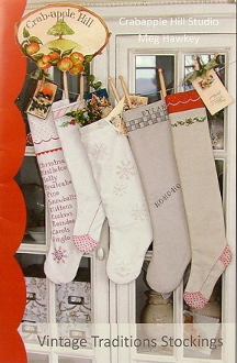 crabapple hill vintage traditions christmas embroidery pattern - Vintage Christmas Stockings