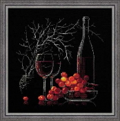 Riolis - Still Life with Red Wine counted cross stitch picture kit
