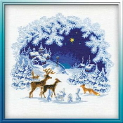 Riolis Christmas counted cross stitch picture kits