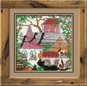 Riolis - City and Cats Summer - counted cross stitch picture kit
