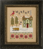 Lizzie Kate Flip-It, Winter - Counted cross stitch pattern, chart, buttons