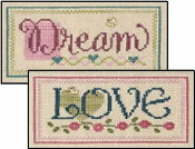 Lizzie Kate Double Flip, Dream Love - Counted cross stitch pattern, chart, charms