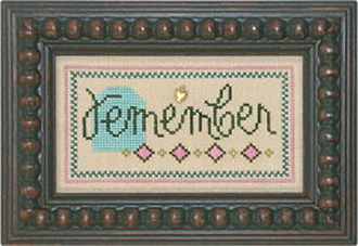Lizzie Kate Double Flip, Remember Give - Counted cross stitch pattern, chart, charms