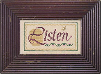 Lizzie Kate Double Flip, Listen Learn - Counted cross stitch pattern, chart, charms